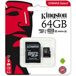 Kingston 64GB micro SDHC with Adapter Class 10 UHS-I (SDCS/32GB)