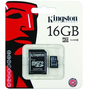 Kingston 16GB micro SDHC with Adapter Class 4 (SDC4/16GB)