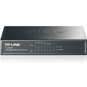 TP-Link 8-port Gigabit Desktop PoE Switch (TL-SG1008P)
