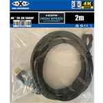 MAXAM 2M HDMI Cable M-M 28AWG Gold ver1.4 (Polybag) Retai2