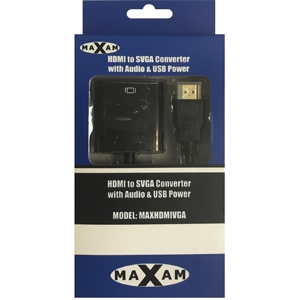 MAXAM HDMI to SVGA Converter with Audio & USB Power