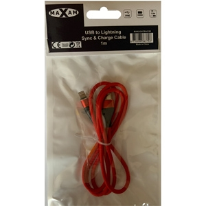 MAXAM Lightning Sync & Charge Cable 1M