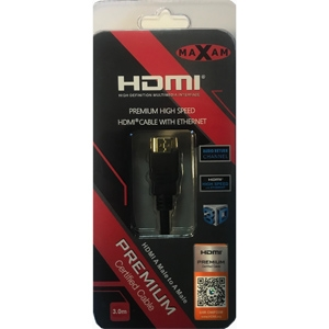MAXAM Certified Premium HDMI M-M Cable Gold ver1.4 Retail 3M