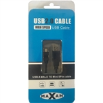 MAXAM USB 2.0 A Male to Mini B 5 Pin Cable 3M Retail