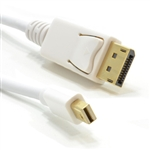 Mini-DisplayPort Male Plug to Display Port Plug Monitor Cable 2m