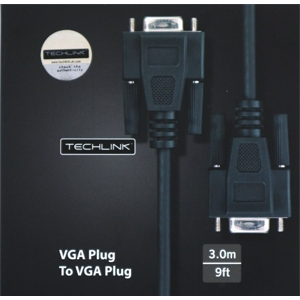 Techlink VGA Male - VGA Male Cable 3M (103703)