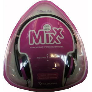 Radiopaq MIXX Lightweight On Ear Headphones Pink