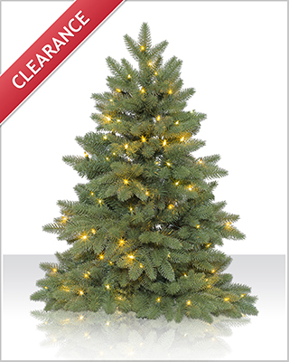 3 foot Columbia Valley Slim Fir Christmas Tree with Clear Lights