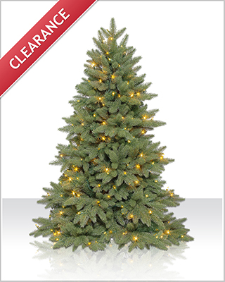 4.5 Foot Columbia Valley Slim Fir Christmas Tree with Clear Lights