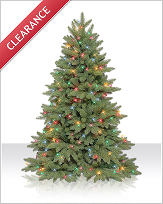 4.5 Foot Columbia Valley Slim Fir Christmas Tree with Multi Lights