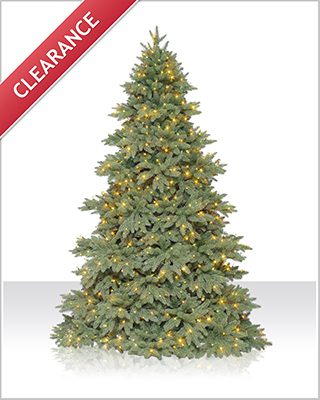 9 Foot Columbia Valley Fir Christmas Tree with Clear Lights