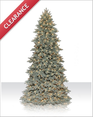 9 Foot Columbia Valley Blue Fir Christmas Tree with Clear Lights