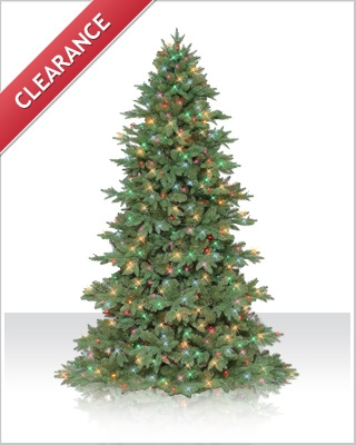 8 Foot Sequoia Fir Christmas Tree with LED Multi Mini Lights