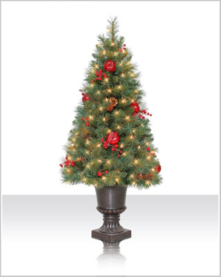 4 Foot Sable Fir Christmas Tree with Indoor Clear Lights