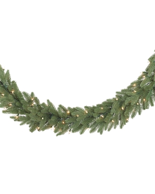 9 Foot Clear Light Kennedy Fir Garland