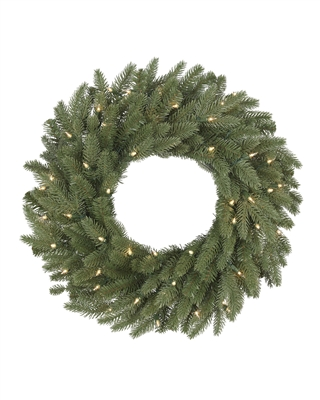 24 Inch Clear Light Kennedy Fir Wreath