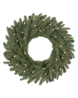 24 Inch Clear LED Light Kennedy Fir Wreath