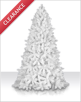 7 Foot Unlit Shimmering White Christmas Tree