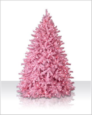 4 Powder Pink Christmas Tree