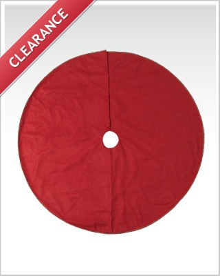 48 Inch Christmas Red Tree Skirts