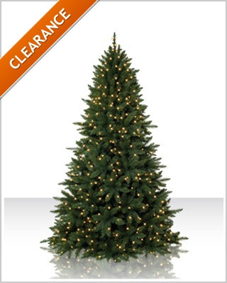 7.5 Foot  Tiffany Fir Christmas Tree With Clear Lights