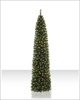 7.5 foot Ticonderoga Pencil Christmas Tree With Clear Lights