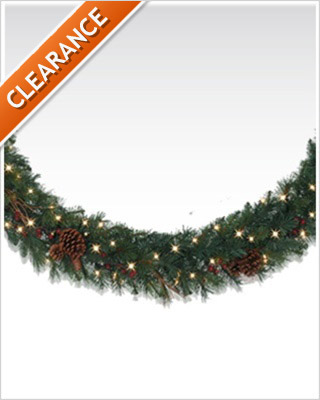 10 Foot Princeton Pine Artificial Christmas Garland with Clear Lights