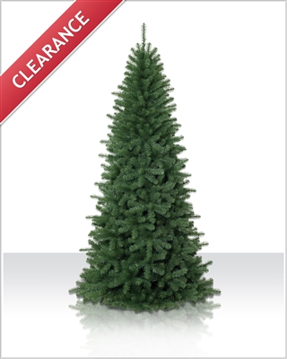 7.5 Foot Unlit Emerald Fir Artificial Christmas Tree