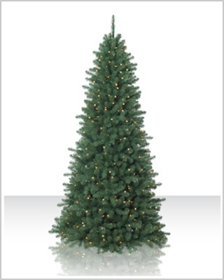 9 Foot Pre lit Emerald Fir Artificial Christmas Tree