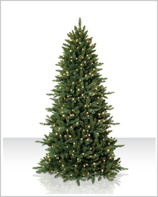 7 Foot Pre lit Sierra Slim Artificial Christmas Tree