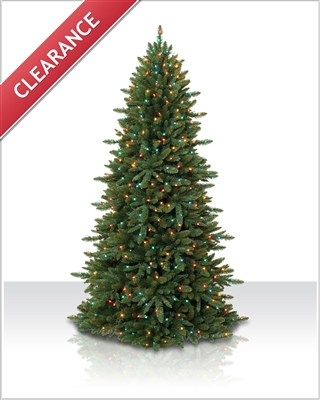 8 Foot Pre lit Sierra Slim Artificial Christmas Tree