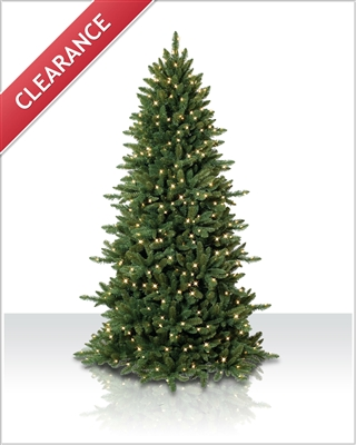 10 Foot Pre lit Sierra Slim Artificial Christmas Tree