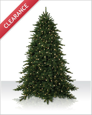 9 Foot Pre lit Alaksan Grand Fir Artificial Christmas Tree