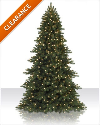 6.5 Foot Pre lit Madison Mixed Pine Artificial Christmas Tree