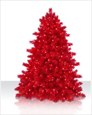 6 Foot Ashley Red Artificial Christmas Tree