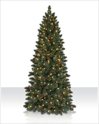 7 Foot Cashmere Clear Artificial Christmas Tree