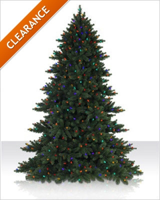 7.5 Foot Colored LED Alexandria Pine Christmas Tree