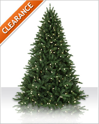 7 Foot Jackson Fir LED Artificial Chistmas Tree with Clear Lights
