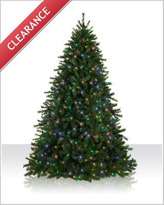 7.5 Foot Main Street LED Christmas Tree with Multicolor Lights