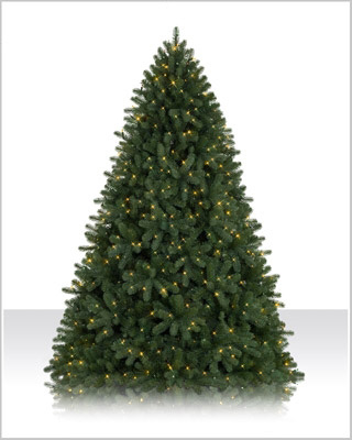 7.5 Foot Prelit Royal Douglas Fir Clear Christmas Tree