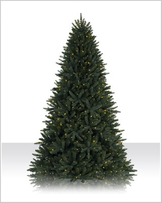 7.5 Foot Prelit Sophia Spring Spruce Clear Christmas Tree
