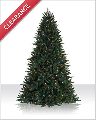 7.5 Foot Prelit Sophia Spring Spruce Christmas Tree with Multi Lights