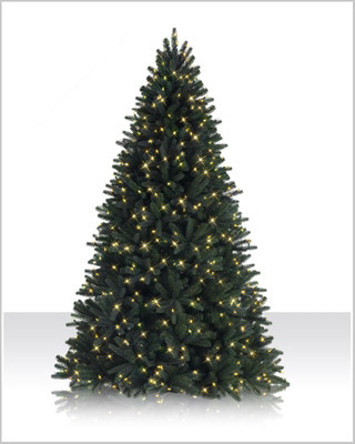 7.5 Foot Sophia Spring Spruce  LED Christmas Tree  with  Clear Lights