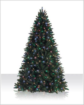 7.5 Foot Sophia Spring Spruce Multicolor LED Christmas Tree