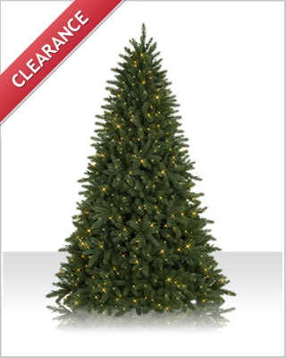 9 Foot Prelit Pomona Pine Clear Christmas Tree