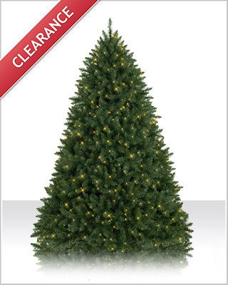 7.5 Foot Prelit Connecticut River Pine Clear Christmas Tree