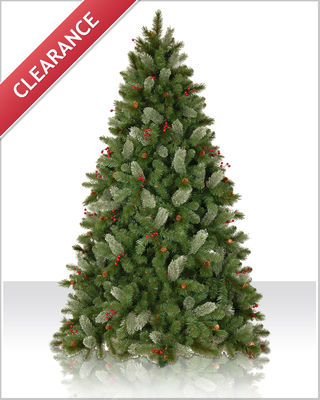 7.5 Foot Pre lit Asheville Pine Artificial Christmas Tree
