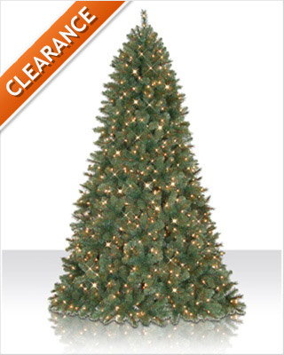 9 Foot Pre lit Grand Fir Artificial Christmas Tree