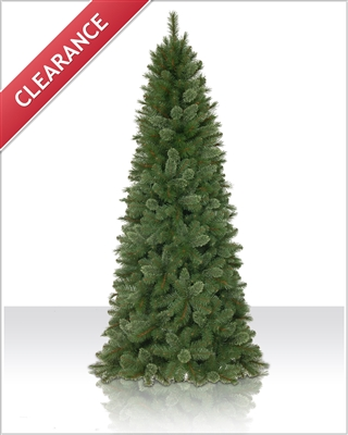 7.5 Foot Unlit  Asheville Slim Pine Christmas Tree