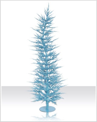 5 Foot Pre lit Whimsical Chartreuse Laser Tinsel Christmas Tree